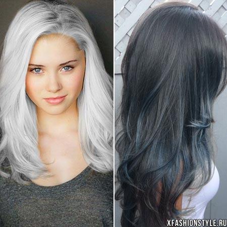Как сделать оттенок волос серым